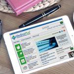 tablet showing MedlinePlus webpage